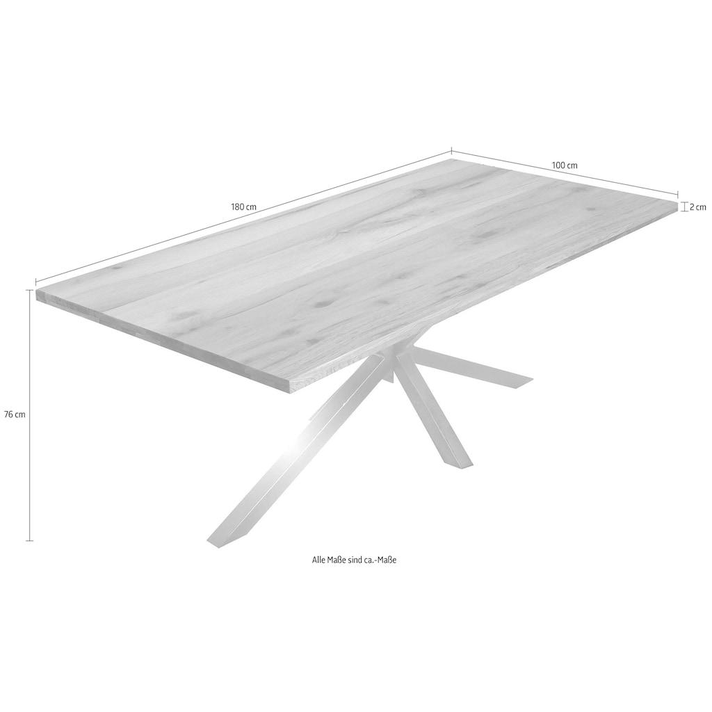 SIT Esstisch »Tops&Tables«, Tischplatte auf 4 cm aufgedoppelt