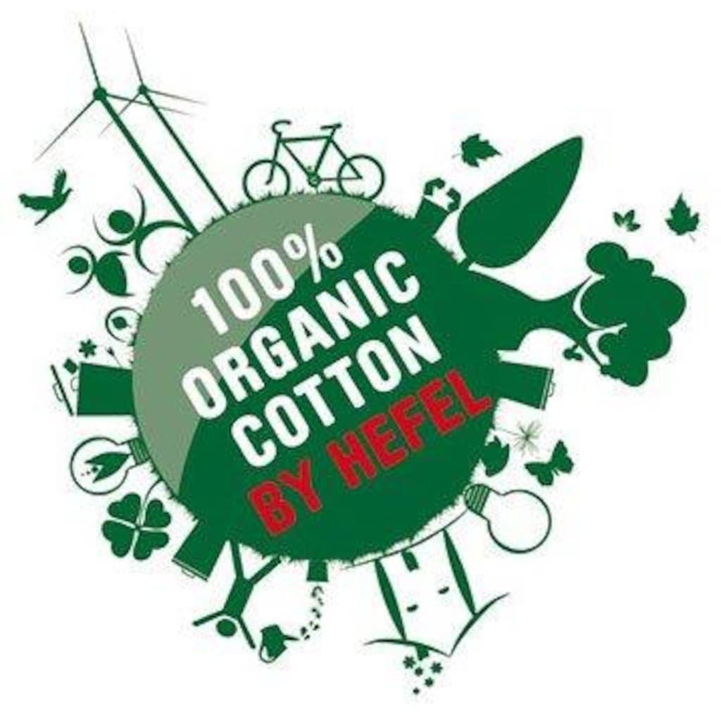 Hefel Topper »Bezug: 100% Organic-Cotton-Feinsatin (kbA) - GOTS zertifiziert«, (1 St.)