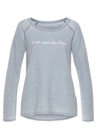 Herrlicher Sweatshirt »FREYJA«, mit Statement Print kaufen