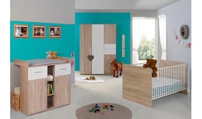 BMG Babyzimmer-Komplettset »Maxim«, (Set, 3 tlg.), Bett + Wickelkommode + 4-trg. Schrank kaufen