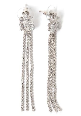 J.Jayz Paar Ohrstecker »mehrreihig, elegant, glitzernd«, mit Glas- und Strasssteinen kaufen