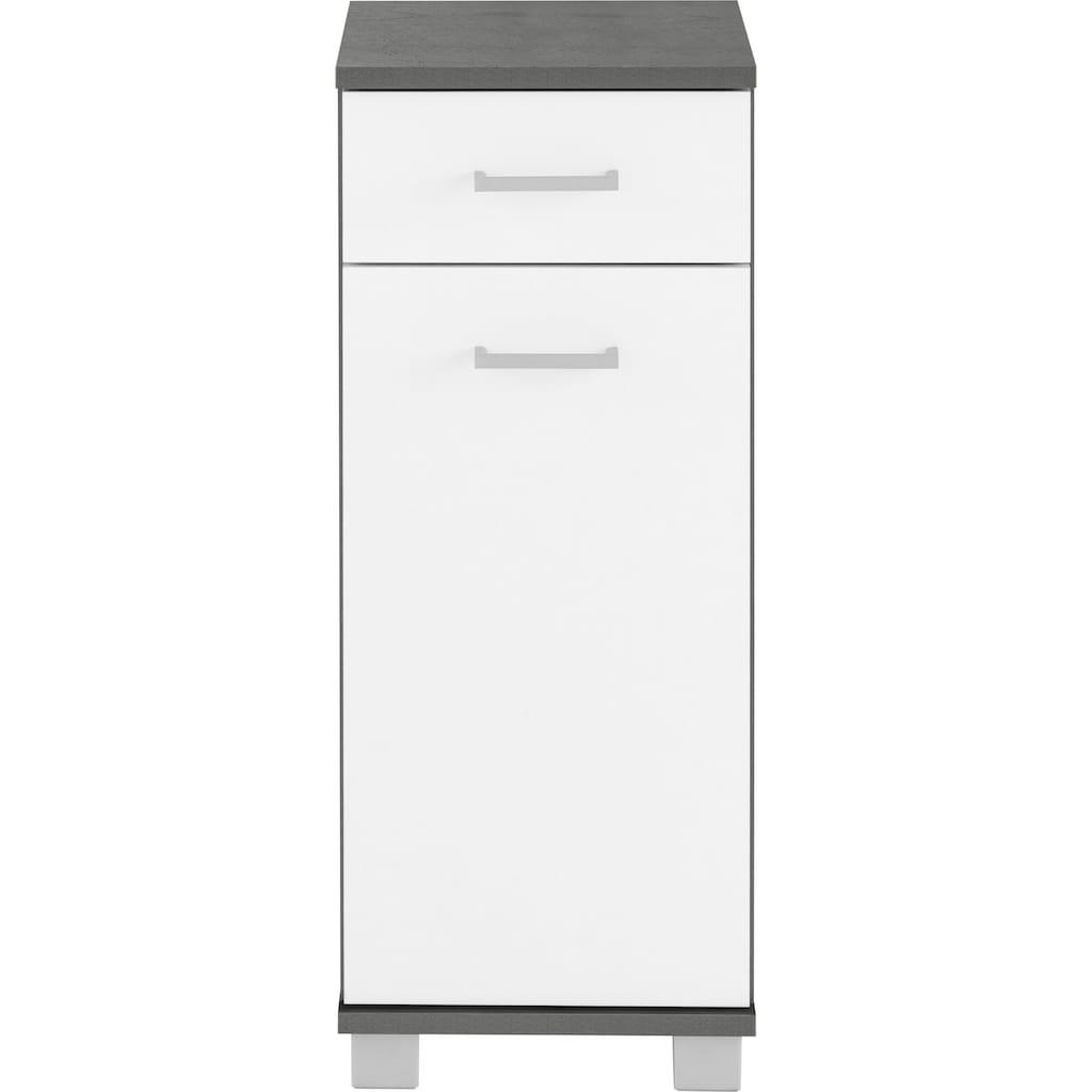 Schildmeyer Unterschrank »Mobes«, Breite/Höhe: 30,3/75,3 cm, Türen beidseitig montierbar, Badschrank mit Schublade und Zwischenboden hinter der Tür