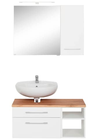 HELD MÖBEL Badmöbel-Set »Davos«, (3 St.), Bad-Spiegelschrank mit LED-Beleuchtung,... kaufen