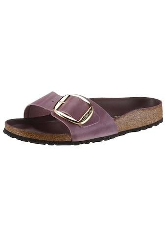 Birkenstock Pantolette »MADRID BIG BUCKLE«, mit ergonomisch geformtem Fußbett, in... kaufen
