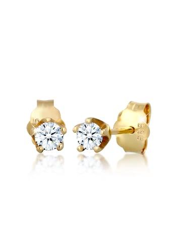 Elli Paar Ohrstecker »Klassisch Elegant Diamant (0.22 ct.) 585 Gelbgold« kaufen
