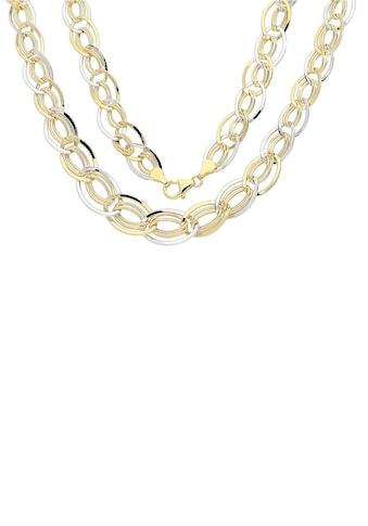 Firetti Goldkette »oval, glanz, rhodiniert, bicolor« kaufen