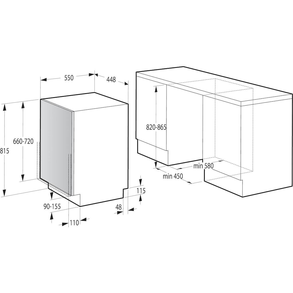 GORENJE vollintegrierbarer Geschirrspüler »GV561D10«, GV561D10, 11 Maßgedecke