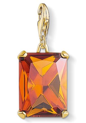 THOMAS SABO Charm-Einhänger »Großer Stein Orange, 1840-472-8«, mit Glasstein kaufen