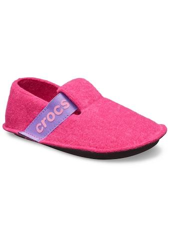 Crocs Hausschuh »Classic Slipper«, mit cooler Logoapplikation kaufen