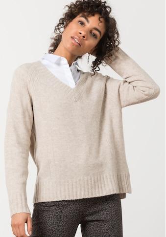 bianca Strickpullover »DARIS«, mit coolen Strickdetails und V-Ausschnitt kaufen
