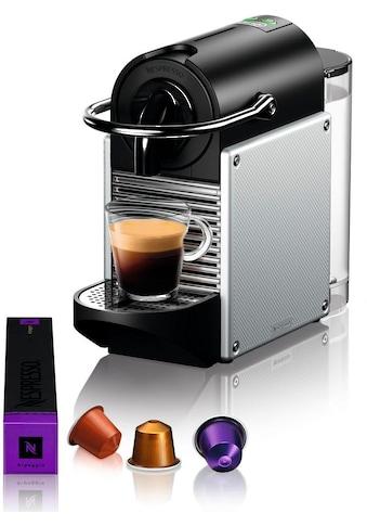 Nespresso Kapselmaschine »De'Longhi Pixie EN 124.S«, nur 11 cm breit mit Seitenteilen aus recycelten Nespressokapseln kaufen