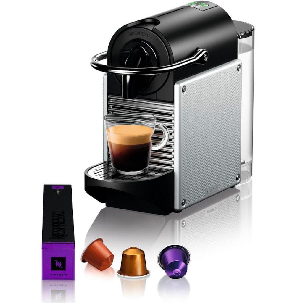 Nespresso Kapselmaschine »De'Longhi Pixie EN 124.S«, nur 11 cm breit mit Seitenteilen aus recycelten Nespressokapseln
