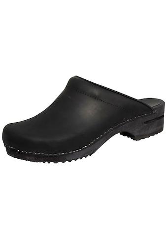 Sanita Clog »1200009M-2«, Sanita Herren Clog offen schwarz kaufen