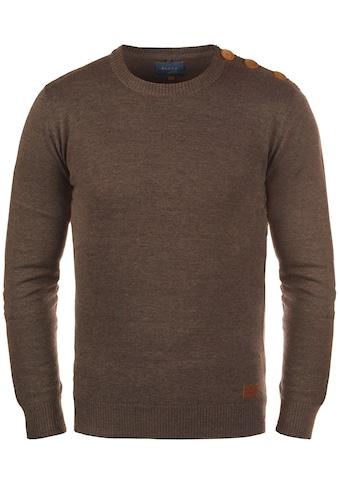 Blend Rundhalspullover »Louis«, Strickpulli mit Knopfleiste auf der Schulter kaufen