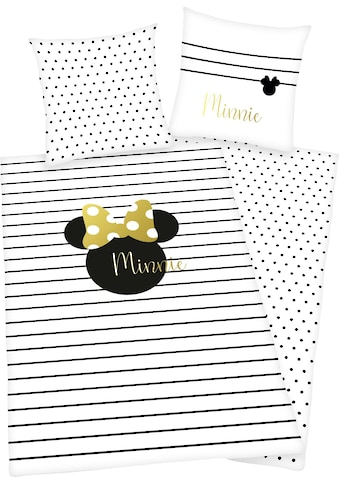 Walt Disney Wendebettwäsche »Minnie Mouse«, mit hochwertigem Golddruck kaufen