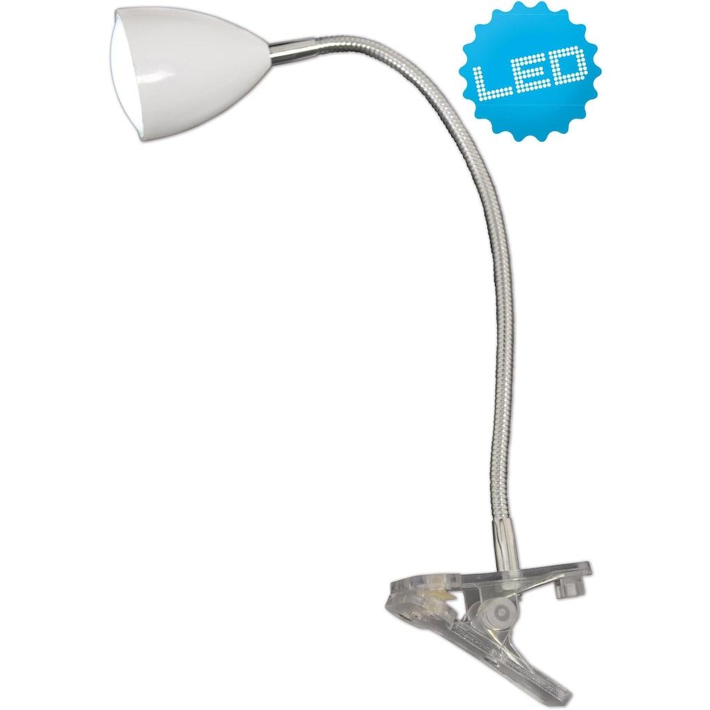 näve LED Klemmtischleuchte »Norca«, LED-Board, Neutralweiß