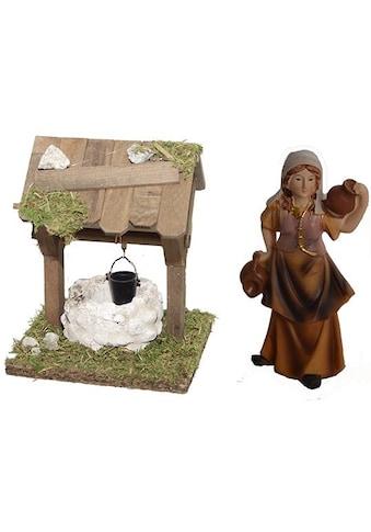 Alfred Kolbe Krippen-Zubehör »Brunnen und Figur Magd mit Krug.« kaufen