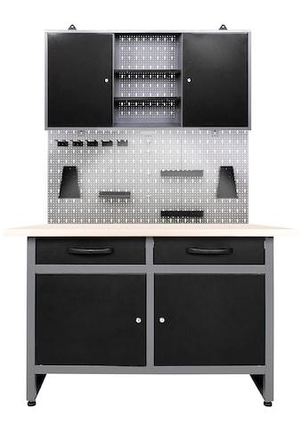 ONDIS24 Werkstatt - Set »Werner«, 120 cm, mit Lochwandsystem inkl. Haken, mit LED kaufen