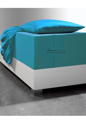 fleuresse Spannbettlaken »Comfort XL«, mit Elasthan für besonders hohe Matratzen kaufen