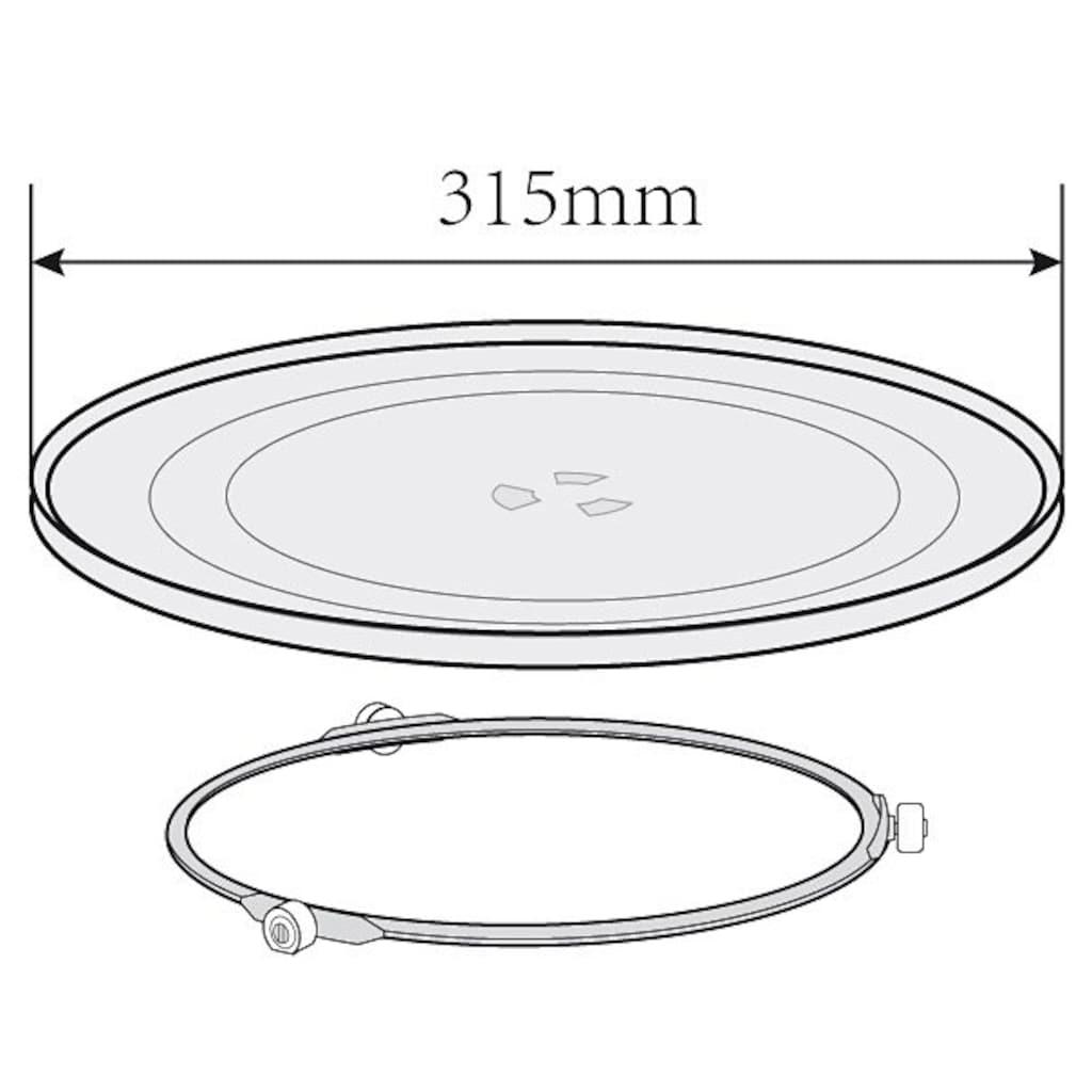 Privileg Mikrowelle »285902«, Grill und Heißluft, 900 W, 3-in-1 Gerät