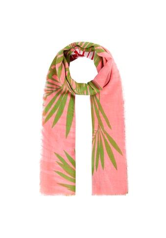 Codello Modeschal, mit exotischem Blätter-Print aus reiner Baumwolle kaufen