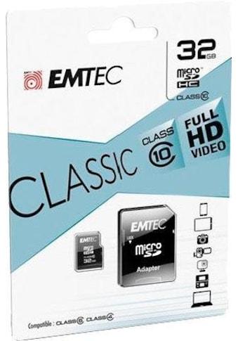 EMTEC Speicherkarte »microSDClass10 Classic«, (Class 10 30 MB/s Lesegeschwindigkeit) kaufen