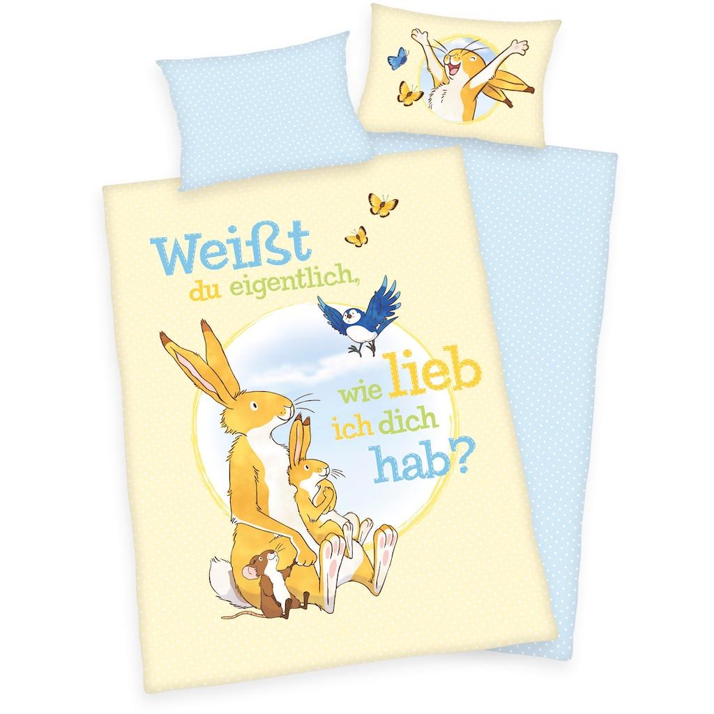 """Babybettwäsche »Weißt du eigentlich, wie lieb ich dich hab?«, mit tollem """"Weißt du eigentlich, wie lieb ich dich hab""""-Motiv"""