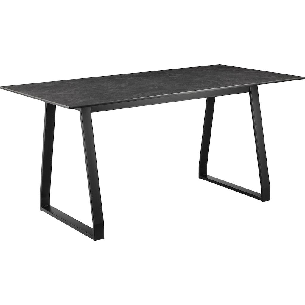COUCH♥ Esstisch »Tafelfreude«, Tischplatte aus Keramik und Glas
