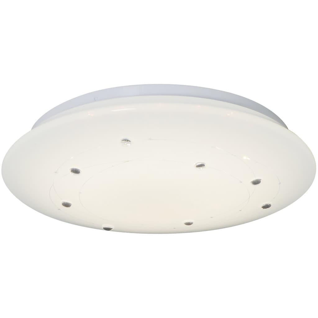 näve LED Deckenleuchte »Lissabon«, LED-Modul, Farbwechsler, Infrarot-Fernbedienung, Kristalleffekt, Farbwechsler, Memory- und Nachlichtfunktion, dimmbar, Ø 60 cm
