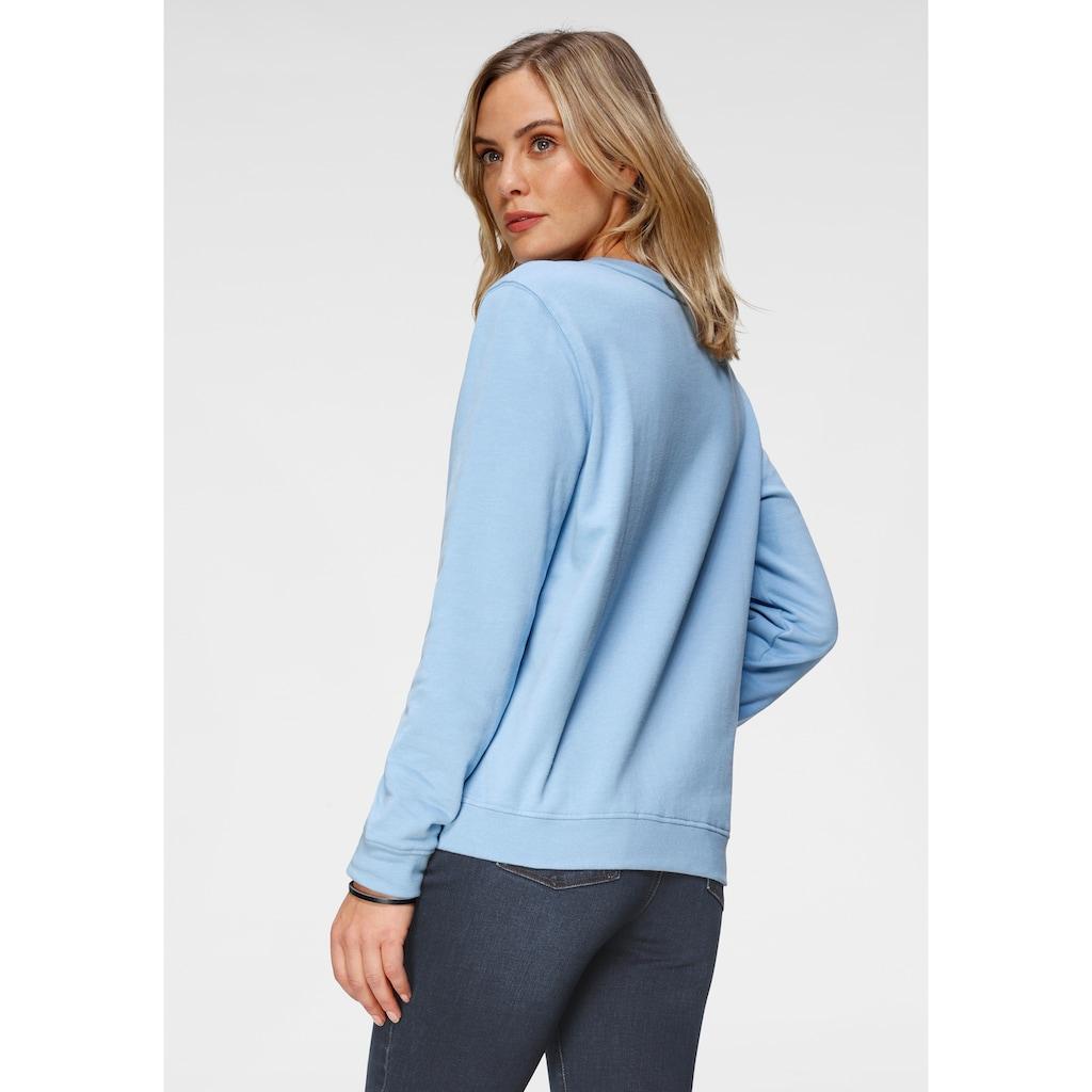 H.I.S Sweatshirt, mit kleinem Retro-Print