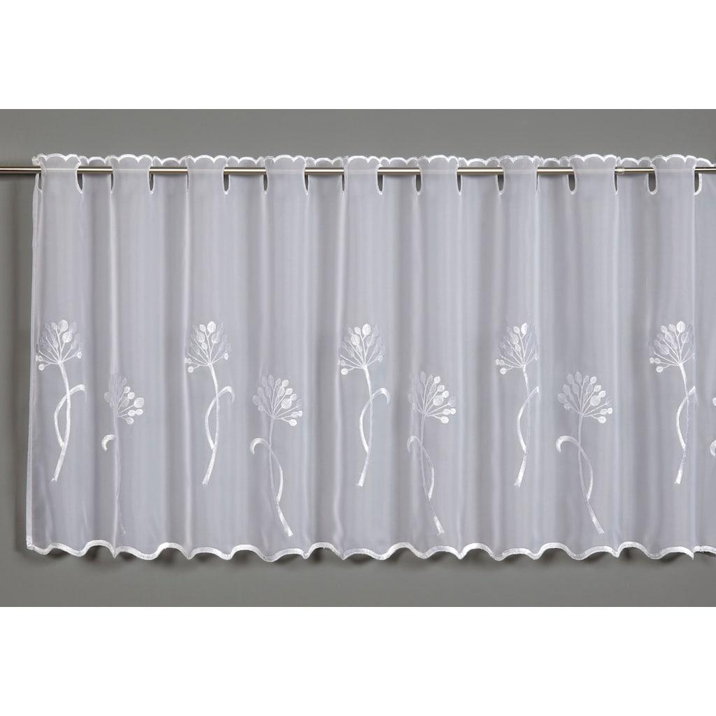GARDINIA Scheibengardine »Voile Stickerei Pusteblume«, Vorhang