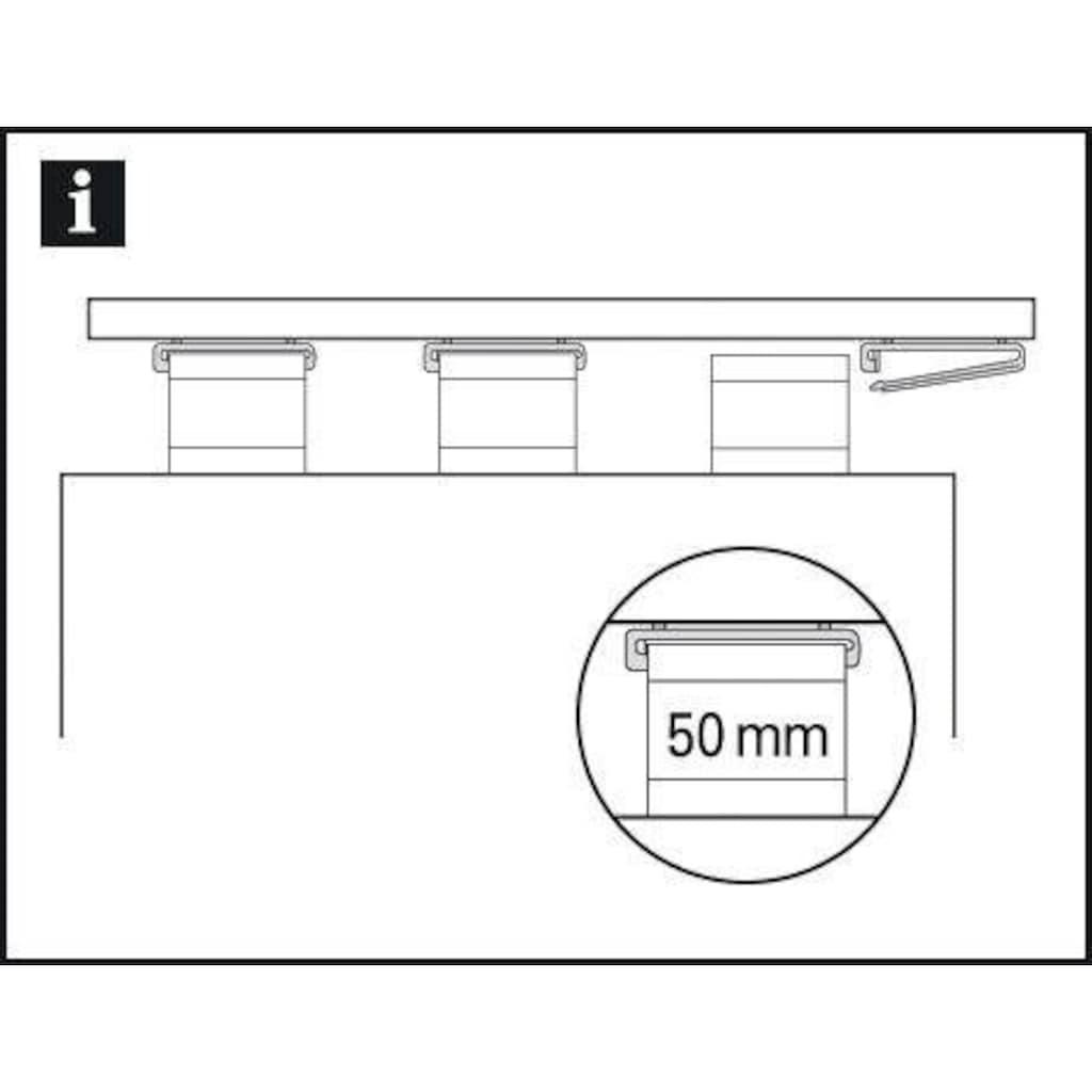 GARDINIA Klick-Gleiter »Schlaufenleiter mit X-Gleitern und Rollen«, (10 St.), Serie Flächenvorhang Technik Atlanta