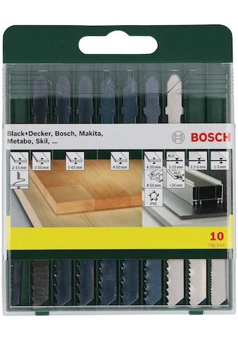 Bosch Powertools Holzbohrer »10-teilige Sägeblattkassette Holz/Metall/Kunststoff... kaufen