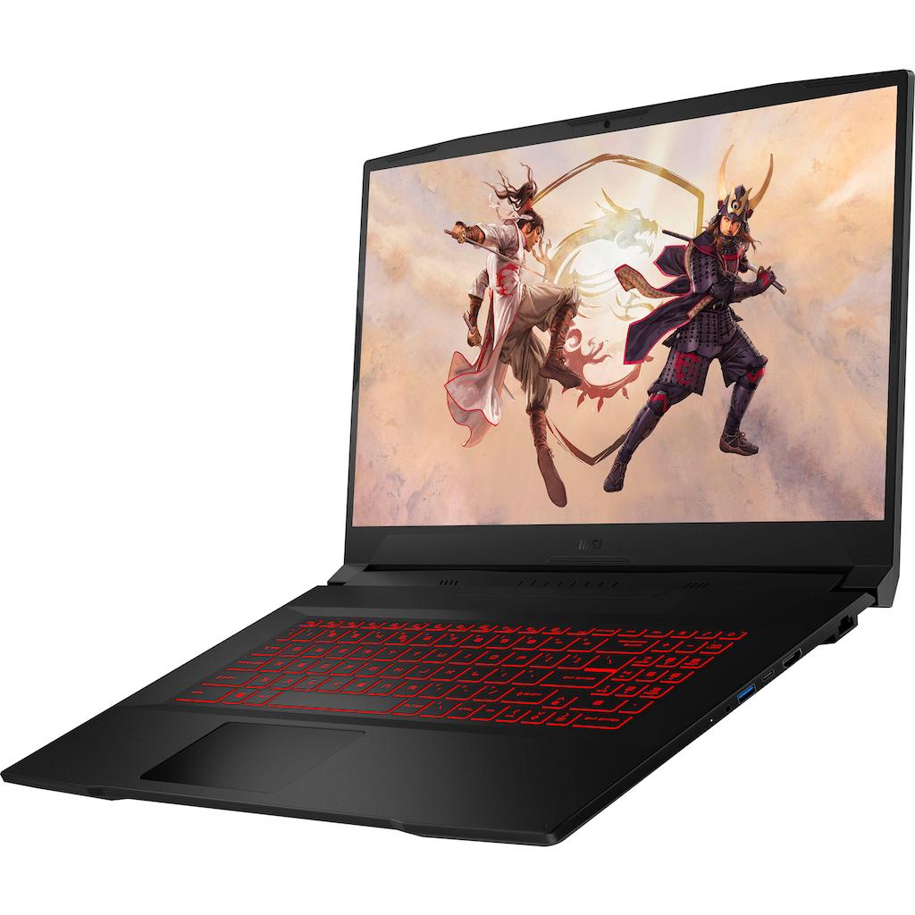 "MSI Gaming-Notebook »Katana GF76 11UC-083«, (43,9 cm/17,3 "" Intel Core i7 GeForce RTX™ 3050\r\n 512 GB SSD), Kostenloses Upgrade auf Windows 11, sobald verfügbar"