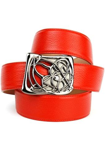 Anthoni Crown Ledergürtel, mit Designer-Schließe kaufen
