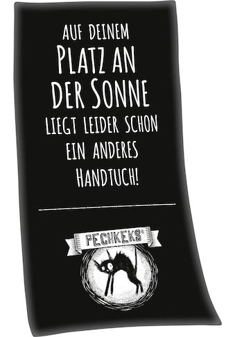 """Badetuch »Pechkeks """"Auf deinem Platz an der Sonne""""«, (1 St.), mit lustigem Spruch kaufen"""