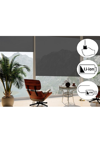 sunlines Seitenzugrollo »Classic Style Akku-Rollo«, Lichtschutz, freihängend, Made in... kaufen