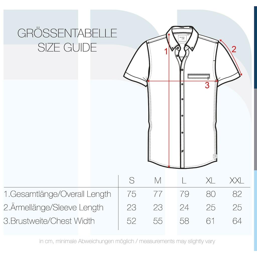 Blend Kurzarmhemd »Fillus«, Hemd mit Brusttasche