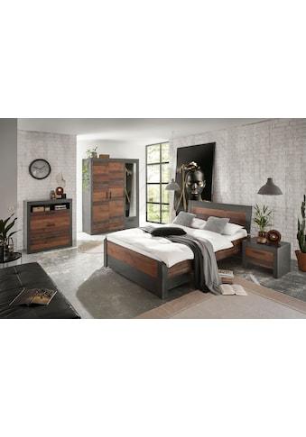 Home affaire Schlafzimmer-Set »BROOKLYN«, (Set, Einzelbett mit Holzkopfteil,... kaufen