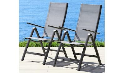 MERXX Set: Gartenstuhl »Amalfi«, 2er Set, Alu/beschichtetes Textil, verstellbar kaufen