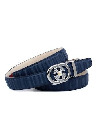 Anthoni Crown Ledergürtel, Gürtel aus innovativem Leder in 3D-Optik in dunkelblau kaufen