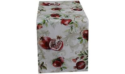 HOSSNER - HOMECOLLECTION Tischläufer »Granatapfel«, (1 St.), mit Herbstmotiv kaufen