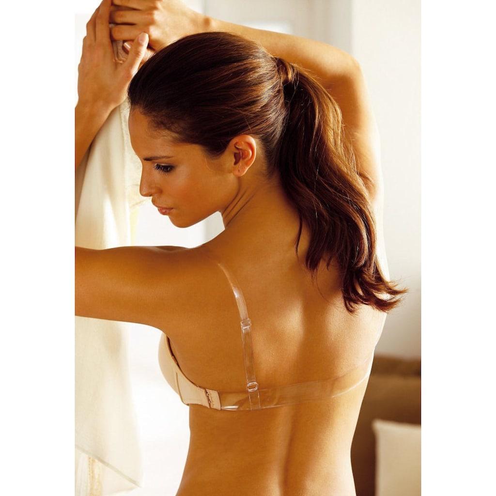 Abracada Bra Push-up-BH, mit Bügel, mit transparenten Trägern und Rücken