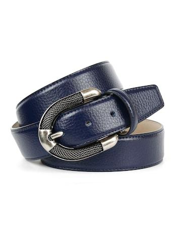 Anthoni Crown Ledergürtel, mit aufwendiger Schmuck-Schließe in silberfarben kaufen