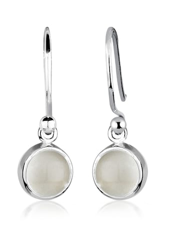 Elli Paar Ohrhänger »Mondstein Moon Rund Basic Trend 925 Silber« kaufen