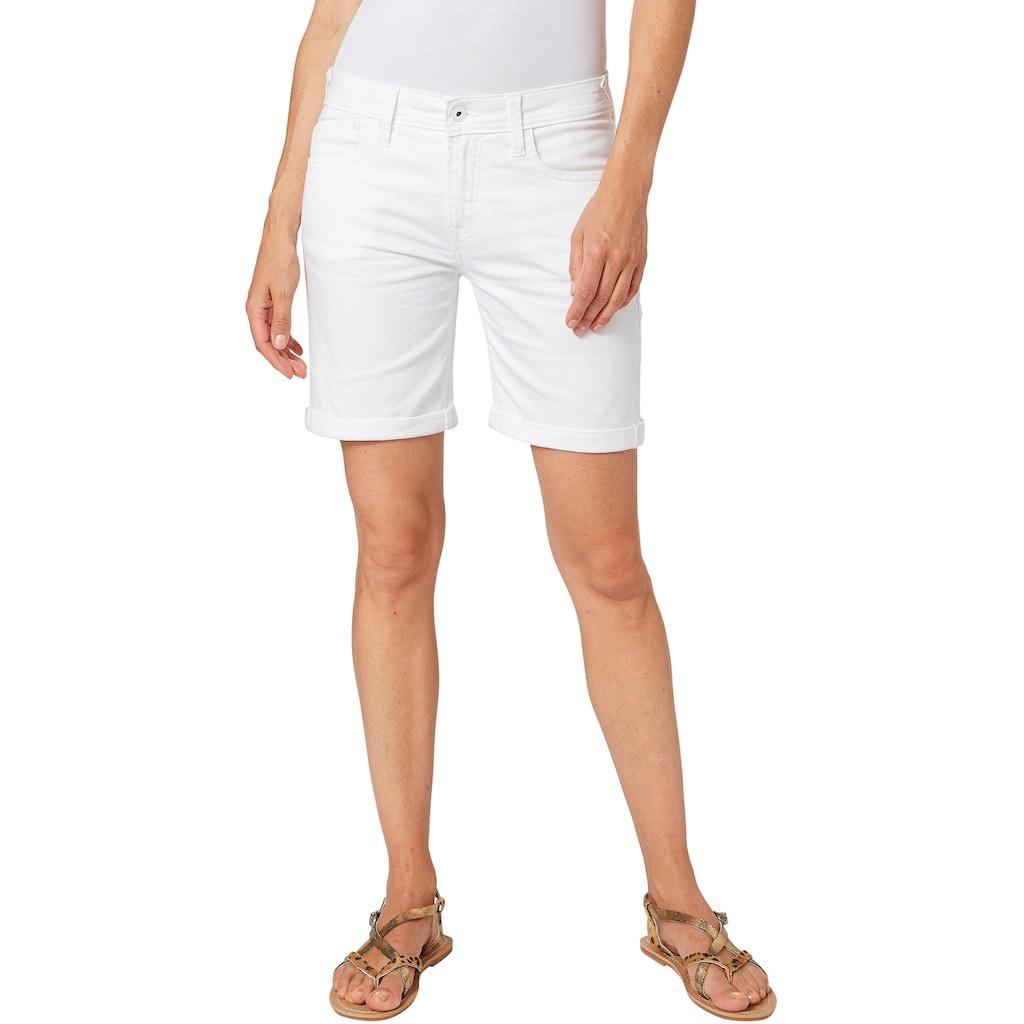 Pepe Jeans Jeansshorts »POPPY«, mit Stretch & krempelbaren Beinen