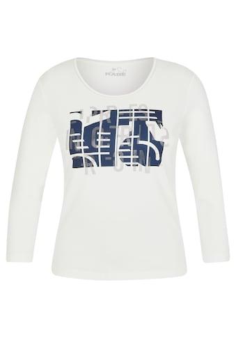 Rabe Langarmshirt, mit abstraktem Front-Print und Glitzersteinen kaufen