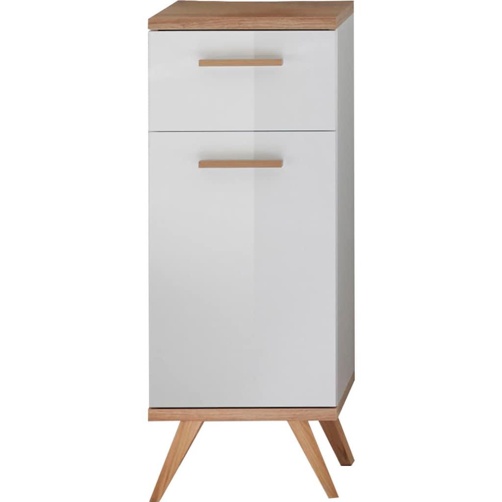 PELIPAL Unterschrank »Quickset 923«, Breite 35,5 cm, Holzgriffe, Türdämpfer, Glaseinlegeboden