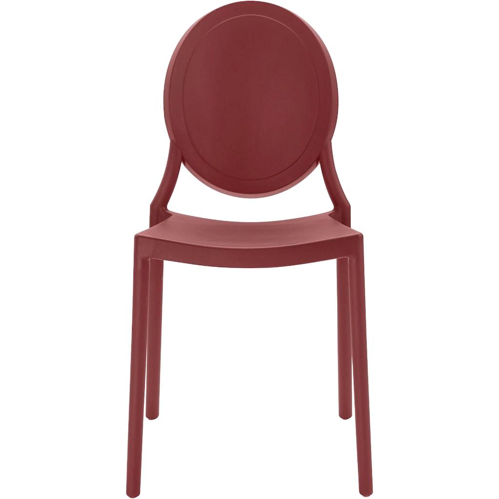 INOSIGN Esszimmerstuhl »Welz«, in fünf trendigen Farbvarianten, aus Kunststoff, Sitzhöhe 45 cm