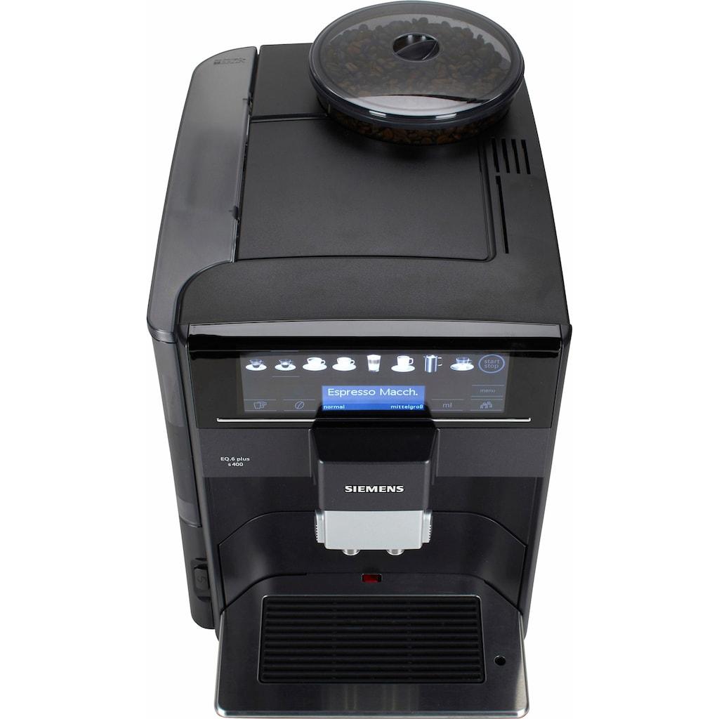 SIEMENS Kaffeevollautomat »EQ.6 plus s400 TE654509DE«, mit Milchbehälter im Wert von UVP 49,90 €